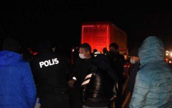 Sokağa çıkma yasağında otomobil yarışı için buluşan 63 kişiye ceza | Video