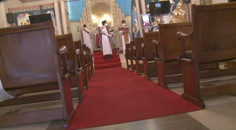 Süryani cemaati ayine sosyal medyadan katıldı   Video