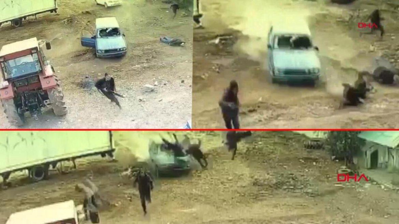 Dehşet anları güvenlik kamerasında… Mardin'de akılalmaz görüntüler