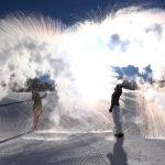 Palandöken'de havaya atılan sıcak su, buz oldu