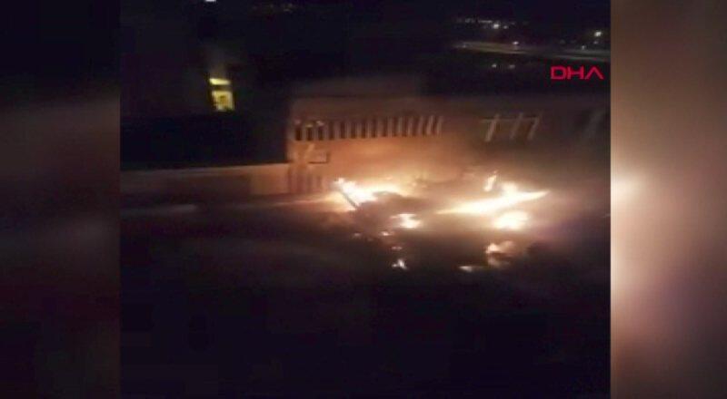 Trabzon'da yangın sırasında patlama