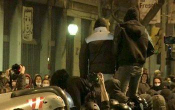 İspanya'da gösteriler sürüyor... İşyerleri yağmalandı polis araçları ateşe verildi