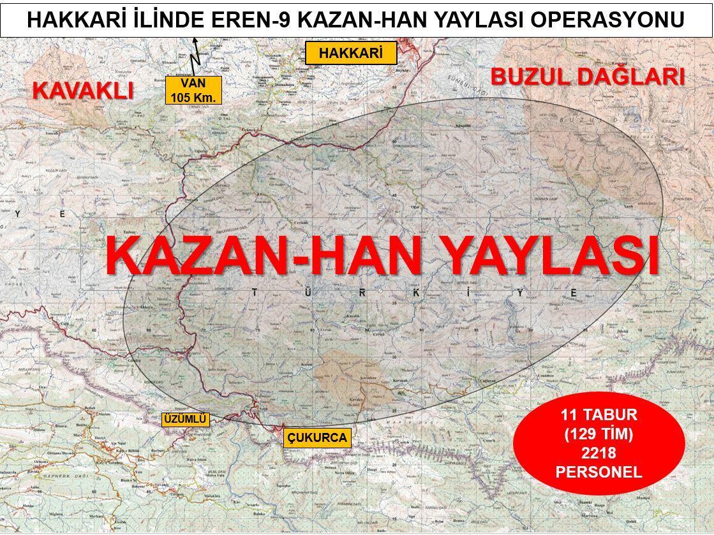 Son dakika… Hakkari'de 'Eren-9 Kazan-Han Yaylası Operasyonu' başlatıldı