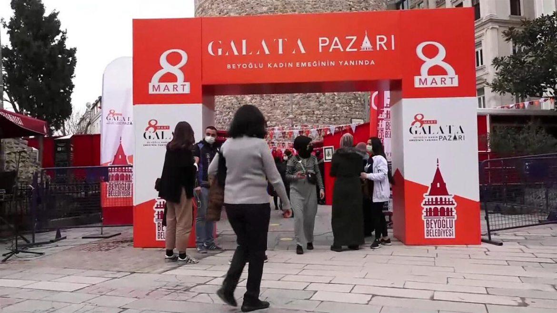8 Mart Galata Pazarı! Kadınların hazırladığı ürünler bu pazarda satılıyor