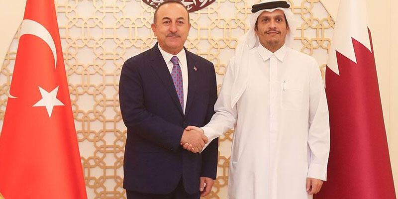 Dışişleri Bakanı Çavuşoğlu, Katar Dışişleri Bakanı Al Sani ile görüştü