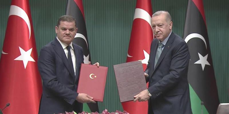 Son dakika haberi: Cumhurbaşkanı Erdoğan ve Libya Başbakanı'ndan ortak açıklama
