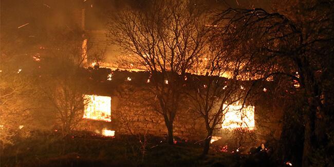 Uşak'ta yangın: Kullanılamaz hale geldi