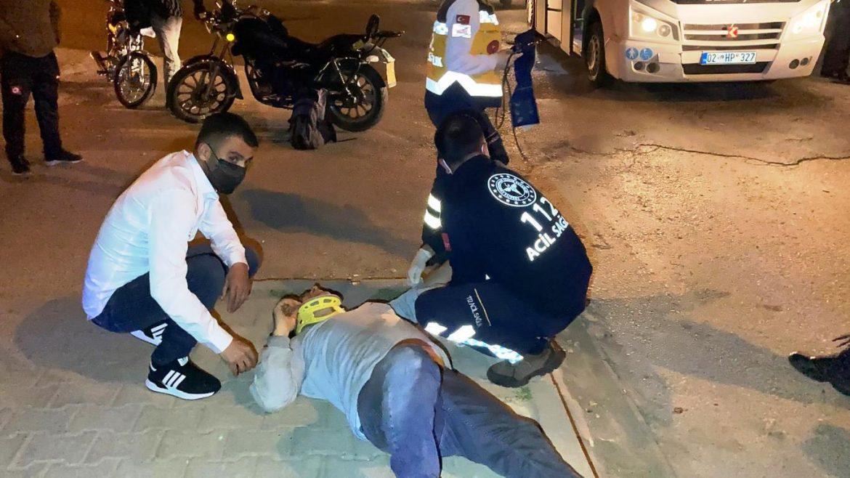 Yolcu minibüsü ile motosiklet çarpıştı: Yaralılar var