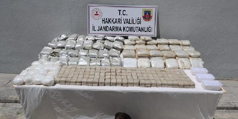İran sınırında, at sırtında 181 kilo uyuşturucu ele geçirildi