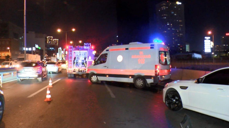 Basın Ekspres Yolu'nda otomobil takla attı