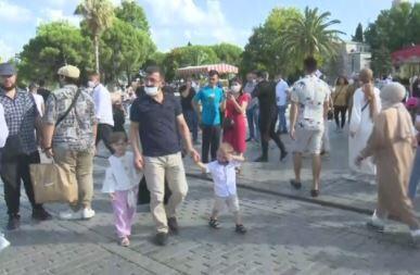 İstanbul bayramda turistlere kaldı