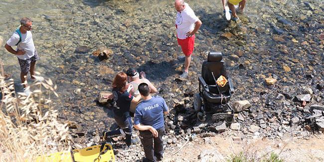 Tekerlekli sandalyesi ile 30 metrelik uçurumdan yuvarlandı